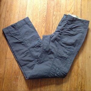 Sz 6 tall EDDIE BAUER Vashion Fit gray khakis